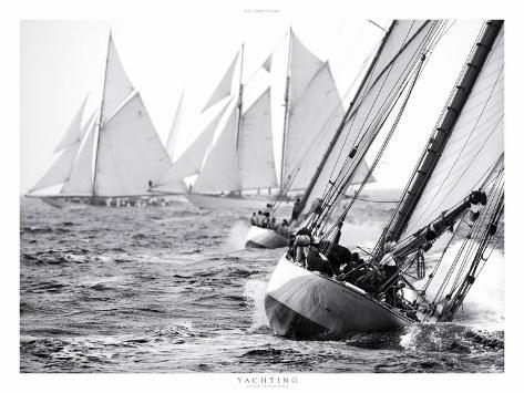 Yachting, Les Voiles de Saint-Tropez Art Print