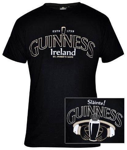 Guinness - Black Claddagh T-Shirt
