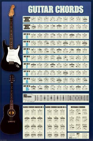 Guitar Cords Poster
