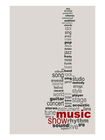 Guitar Music Poster Art Print
