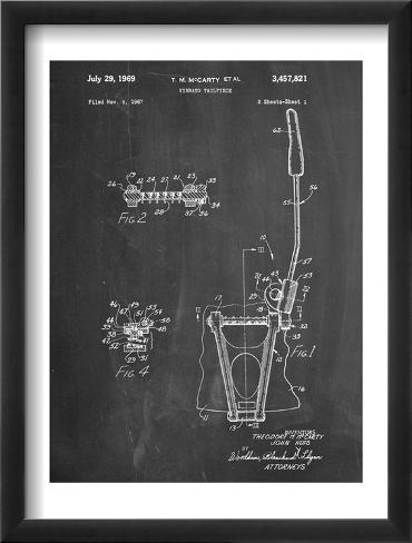 Guitar Vibrato, Wammy Bar Patent Framed Art Print