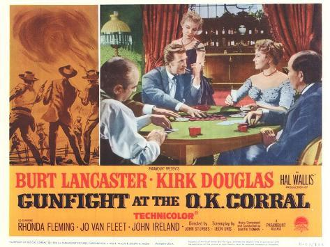 Gunfight at the O.K. Corral, 1963 Stampa artistica