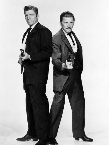 Gunfight at the O.K. Corral, Burt Lancaster, Kirk Douglas, 1957 Photo