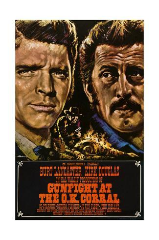 Gunfight at the O.K. Corral, German Poster Art, 1957 Lámina giclée