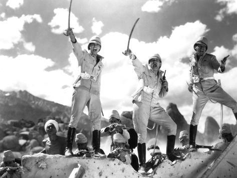 Gunga Din, Cary Grant, Victor McLaglen, Douglas Fairbanks Jr., 1939 Foto