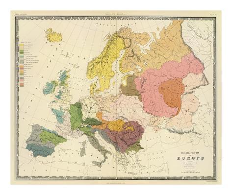 Ethnographic, Europe, c.1856 Art Print