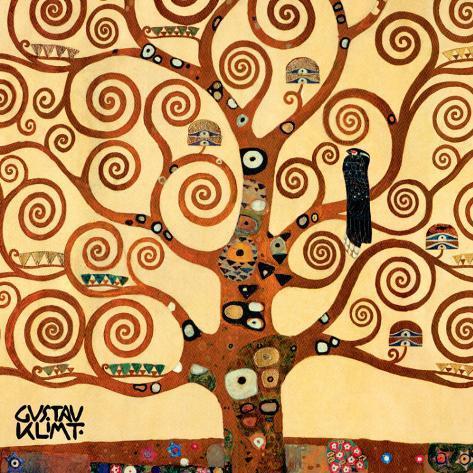 A Árvore da Vida, Stoclet Frieze, cerca de 1909, detalhe Impressão artística