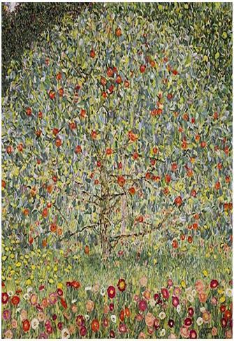 Gustav Klimt (Apple Tree) Art Poster Print Poster