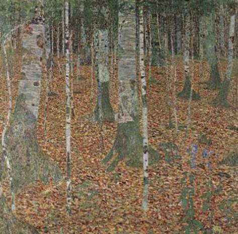 Gustav Klimt (Birch forest) Art Poster Print Masterprint