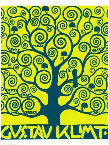 Blue Tree of Life Premium Giclee Print