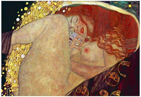 Gustav Klimt (Danae) Art Poster Print Poster