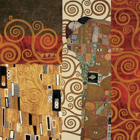 Deco Collage Detail (from Fulfillment, Stoclet Frieze) Art Print