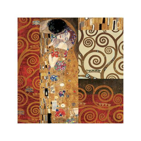 Deco Collage Detail (from The Kiss) Giclee Print