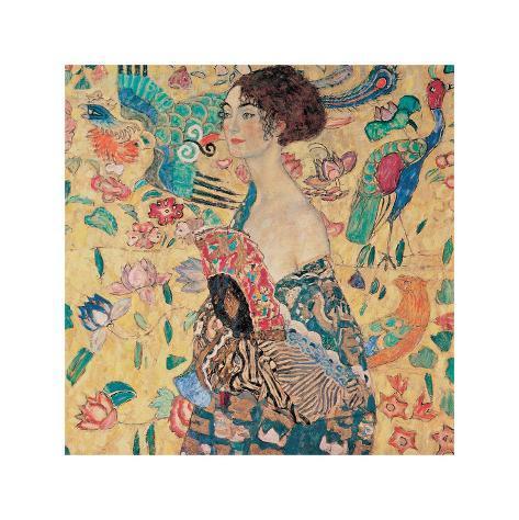Donna con Ventaglio Giclee Print