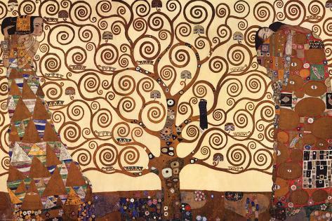 El árbol De La Vida Lámina Montada En Tabla Por Gustav Klimt En