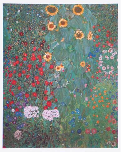 Farm Garden with Sunflowers Art Print