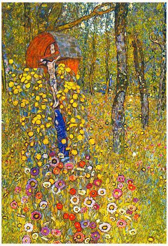 Gustav Klimt Farmers Garden with Crucifix Art Print Poster Poster