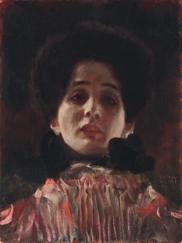 Full-Face Portrait of a Lady; Damenbildnis en face, c.1898 Lámina giclée