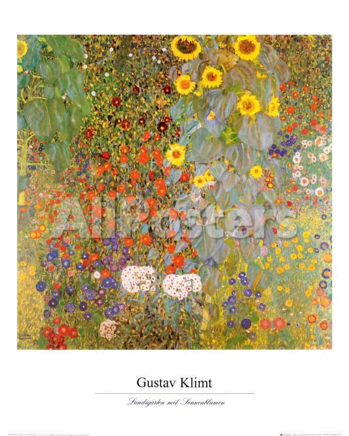 Giardino di campagna con girasoli Arte di Gustav Klimt su AllPosters.it