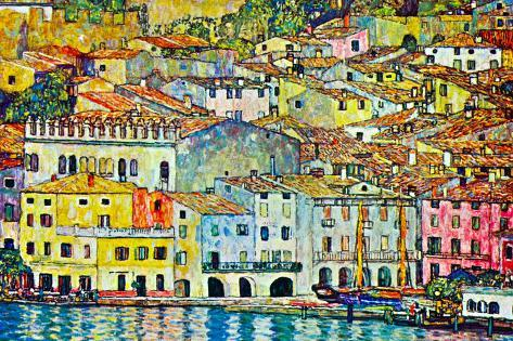 Gustav Klimt Malcena at the Gardasee Art Print