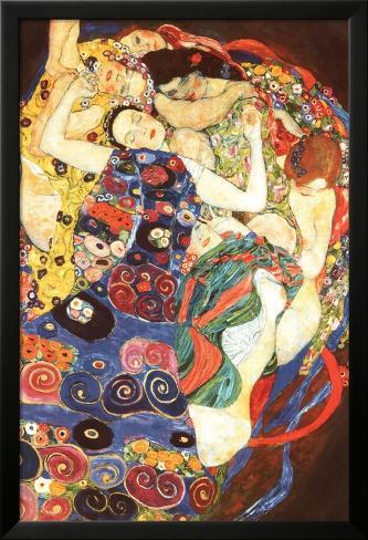 Gustav Klimt Virgin Art Print Poster Póster enmarcado con plástico protector