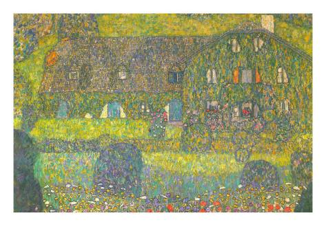 House In Attersee Art Print