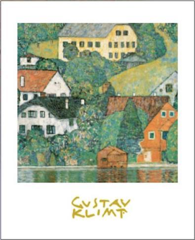 Houses at Unterach Art Print