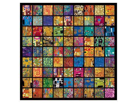klimt squares print by gustav klimt at allposters com