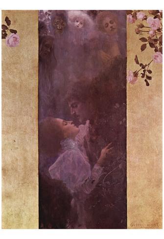 Gustav Klimt (Love) Art Poster Print Poster