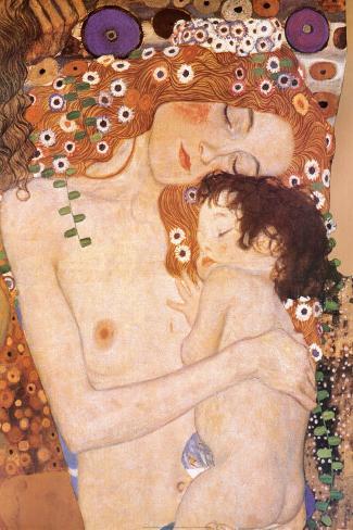 Mãe e Filho (detalhe do quadro As Três Idades da Mulher), c.1905 Pôster