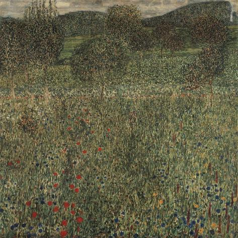 Orchard or Field of Flowers, Ca 1905 Giclee Print