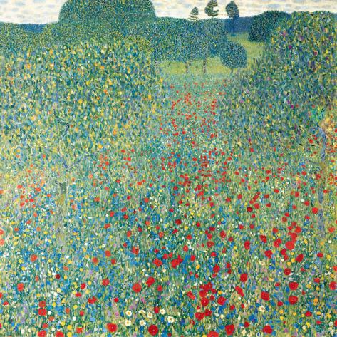 Poppy Meadow, c.1907 Stretched Canvas Print