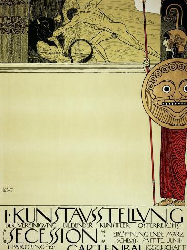 Poster for the First Exhibition of the Secession, 1897 Giclee Print