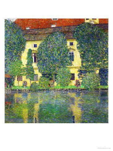 Schloss Kammer Am Attersee III (Wasserschloss), 1910 Giclee Print