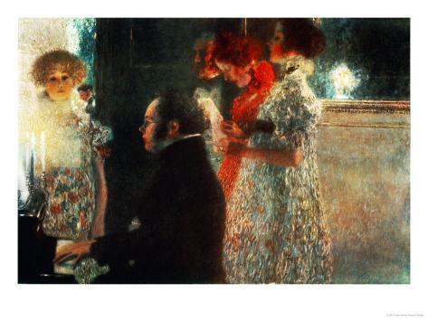 Schubert at the Piano, 1899 Giclee Print