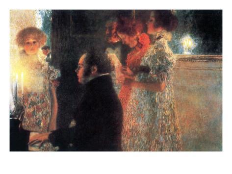 Schubert At The Piano Art Print