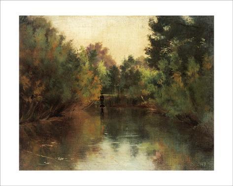 Secluded Pond Framed Giclee Print