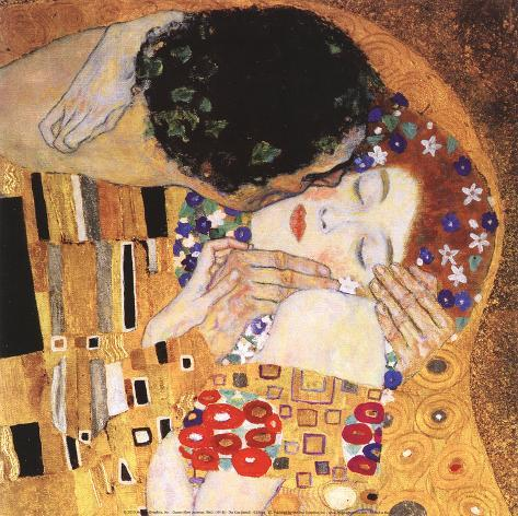 The Kiss (detail) Art Print