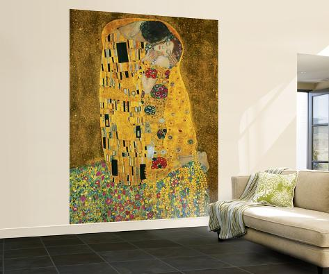 Gustav Klimt The Kiss Huge Wall Mural Art Print Poster Mural De Papel De  Parede Part 52