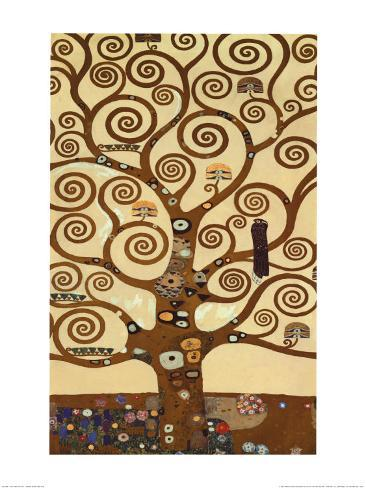 The Tree of Life, Stoclet Frieze, c.1909 Art Print