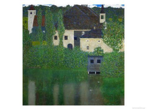 Unterach Manor on the Attersee Lake, Austria, 1915-1916 Giclee Print