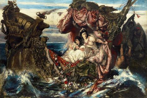 The Shipwreck of Agrippina Lámina giclée
