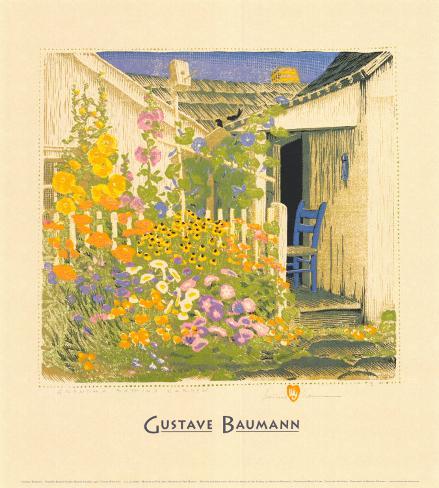 Grandma Battin's Garden Art Print