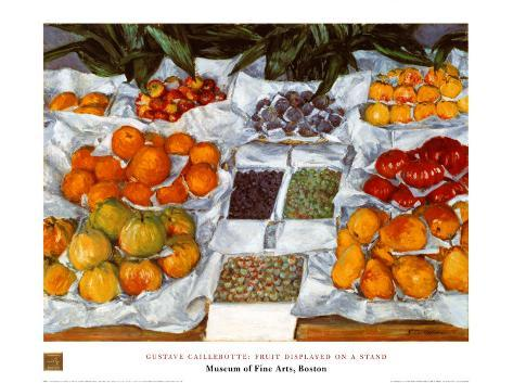 Fruit Displayed on a Stand Art Print