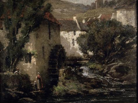 Water Mill, 19th Century Giclee Print