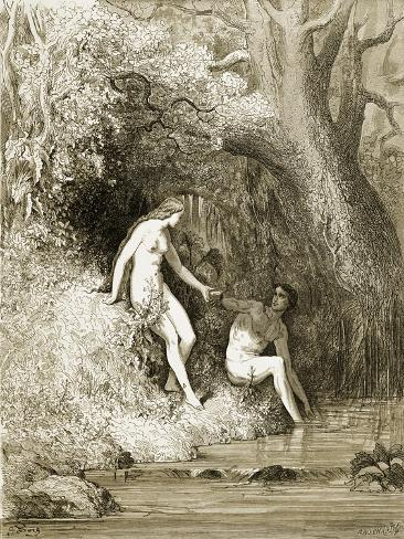 Adam and Eve in Paradise Giclee Print