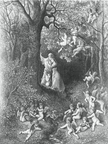 Angelica and Medoro, from the Frenzy of Orlando Lámina giclée