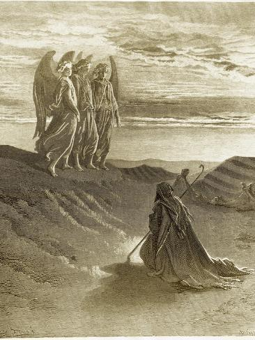 The Lord Appearing Before Abraham Giclee Print