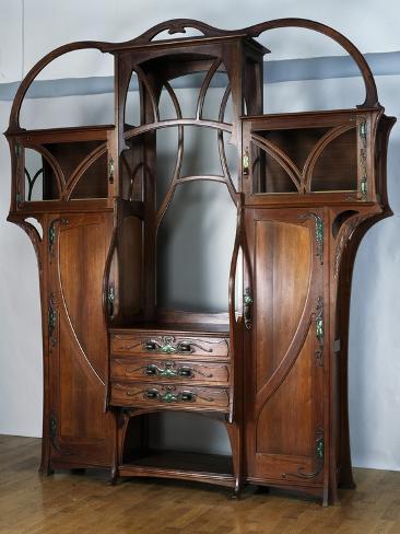 Art Nouveau Style Welsh Dresser Part Of Dining Room Set 1897 1899 Giclee