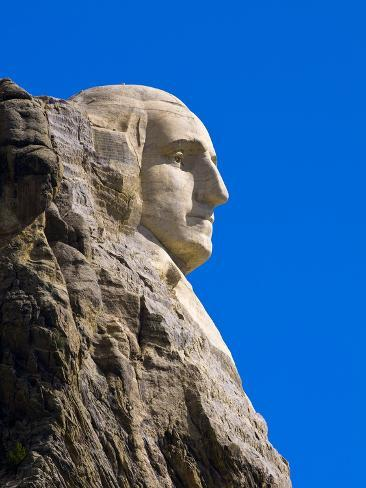 George Washington on Mount Rushmore Memorial Photographic Print